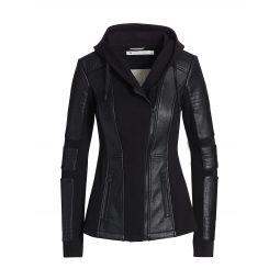 Asym Hooded Moto Jacket