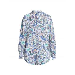 Cadezi Printed Button-Up Shirt