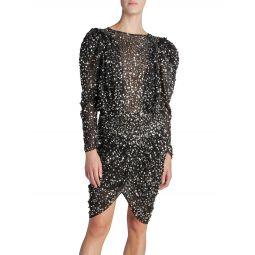 Garetha Ruched Sequin Dress