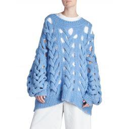 Ella Oversized Openwork Sweater