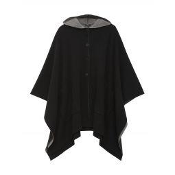 Wool-Blend Hooded Poncho