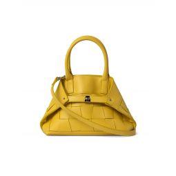 Little Ai Trapezoid Leather Messenger Bag