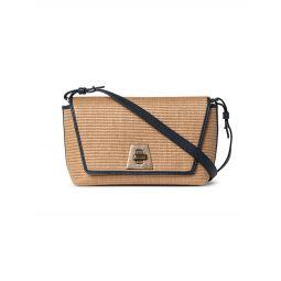 Small Anouk Day Raffia Shoulder Bag