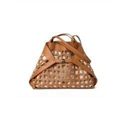 Medium Ai Trapezoid Cutout Leather Shoulder Bag