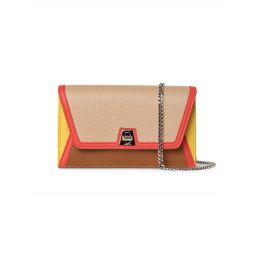 Anouk Envelope Colorblock Leather Frame Shoulder Bag