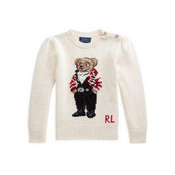 Little Girls & Girls Bear Wool-Blend Sweater