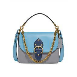 Beat Colorblock Leather Shoulder Bag