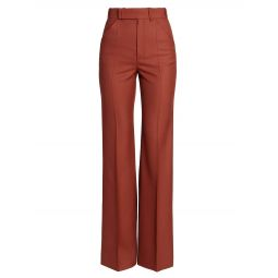 Wool Flat Front Trousers