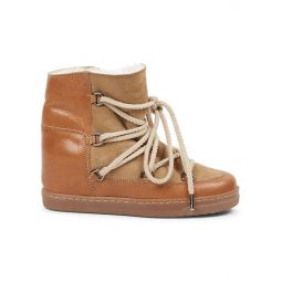 Nowles Shearling-Lined Suede & Leather Boots