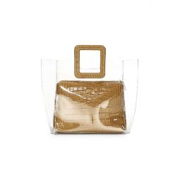 Shirley PVC & Croc-Embossed Leather Tote