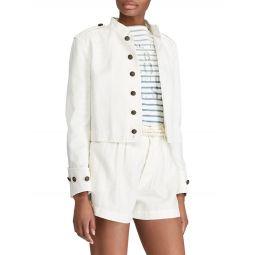 Slim Fit Cotton Officers Jacket