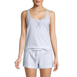 2-Piece Checkered Jersey Pajama Set