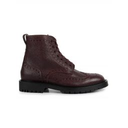 Barkeston Leather Wingtip Boots