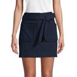 Textured Cotton-Blend Skirt