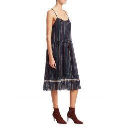 Austin Stripe Silk Dress