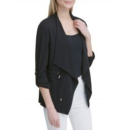 Tabbed Drawcord Open Wing Jacket
