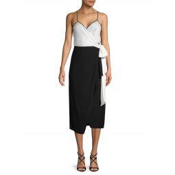 Avila Colorblock Wrap Dress