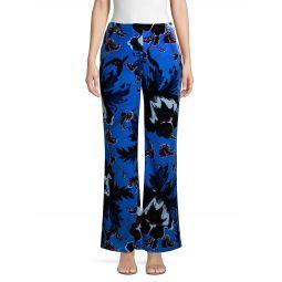 Erica Floral Velvet Flare Pants