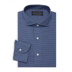 Slim-Fit Houndstooth Dress Shirt