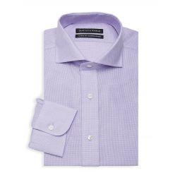 Classic-Fit Geometric Dress Shirt