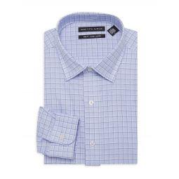Trim-Fit Printed Dress Shirt