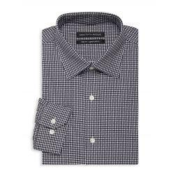 Trim-Fit Checker Dress Shirt
