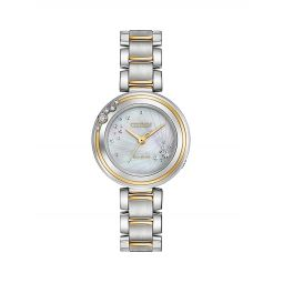 Carina Diamonds and Two-Toned Stainless Steel Watch, EM0464-59D