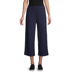 Wide-Leg Terry Pants