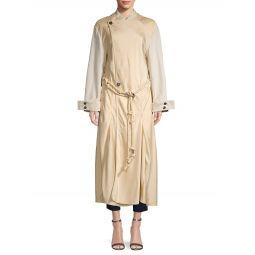 Belted Long-Sleeve Coat