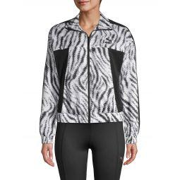 Zebra-Print Cropped Jacket
