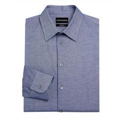 Modern-Fit Chambray Dress Shirt