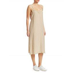 Ilona Striped Silk Sleeveless Dress