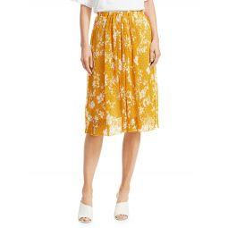 Floral Knit Midi Skirt