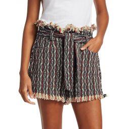 Vanity Striped Tweed Shorts