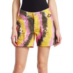 Colored Washed Denim Shorts