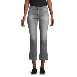 Slim-Fit High-Rise Cropped Flare Jeans
