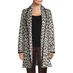 Leopard-Print Open-Front Cardigan