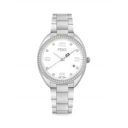 Momento Stainless Steel & Diamond Bracelet Watch