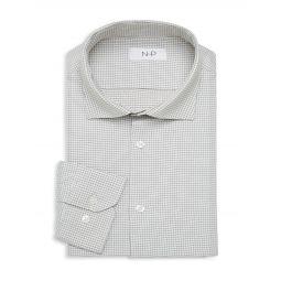 Grid-Print Long-Sleeve Dress Shirt
