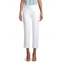 Flat-Front Cropped Pants