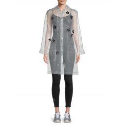 Floral Embellished Raincoat