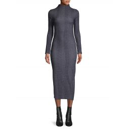 Textured Highneck Cotton-Blend Dress