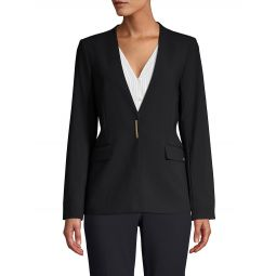 Plunging Snap-Front Jacket