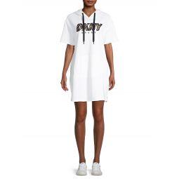 Hooded Cotton-Blend T-Shirt Dress