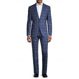 Genius 2-Piece Plaid Regular-Fit Virgin Wool Suit