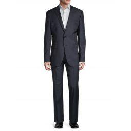 Genius Textured Regular-Fit Wool Suit