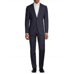 Super 110 Genius Check Regular-Fit Virgin-Wool Suit