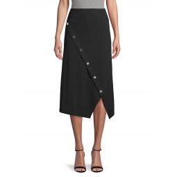 Buttoned Stretch Skirt