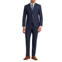 M-Line Modern-Fit Wool Windowpane Suit