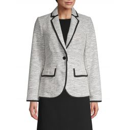 Tweed Single-Button Jacket